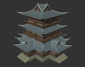 Ancient Chinese Architecture with Internal Structure 3D