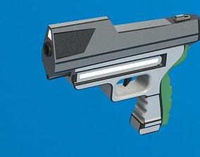 Conceptual gun 5 3D model
