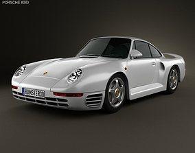 3D model Porsche 959 1986