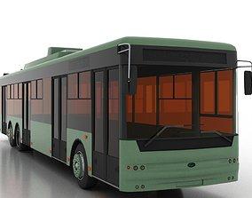 3D model Trolleybus Bogdan T80110 - Low Version