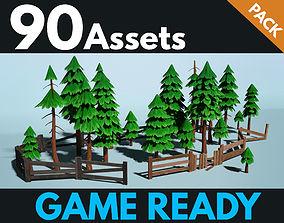 3D asset PBR Fences - Wooden