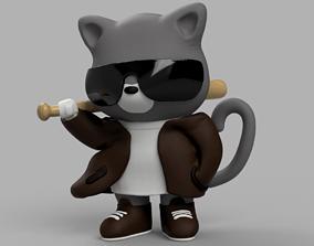 3D print model Cat-Gangster