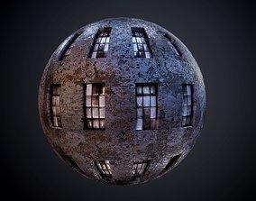Brick Building Seamless PBR Texture street 3D