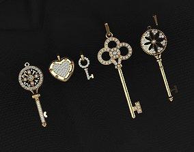 3D printable model 4 Key pendant pendants