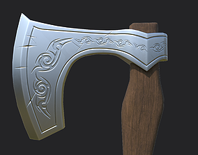 Axe Low Poly 3D model low-poly