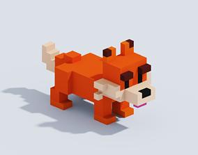3D asset Voxel Fox