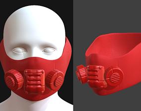 Gas mask helmet 3d low-poly 2