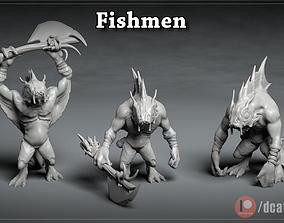 3D printable model Fishmen - DnD Characters - 3 Poses