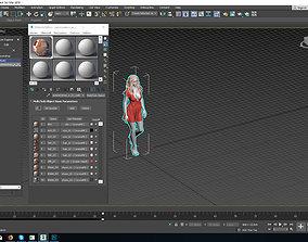 woman in summer dress walk 3D model