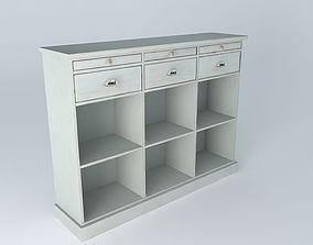 3D Classic white counter