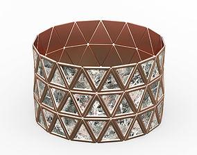 3D model Bracelet Triangles design 2