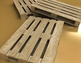 Photorealistic Wood Pallet High Res 3D