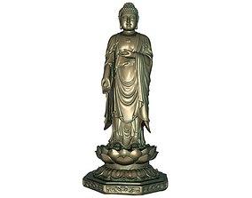 Buddha 3D printable model 3D asset low-poly