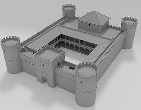 gate Medieval castle 3D model VR / AR ready