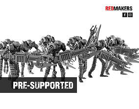 3D printable model Robotic Warriors from the Tomb World