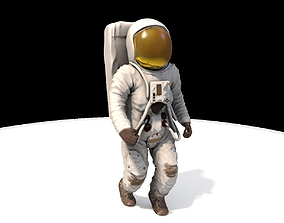 3D model animated Astronaut