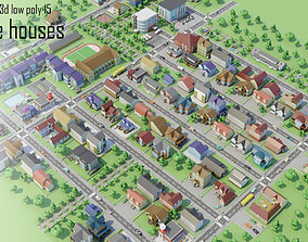 3D asset City Private houses