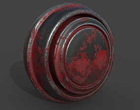 Metal Paint Material 3D asset game-ready