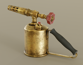 Old Brass Blowtorch 3D model