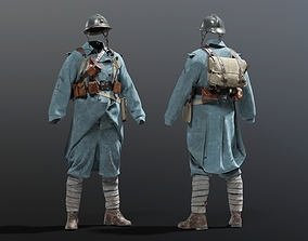 character 3D model SOLDIER WWI French