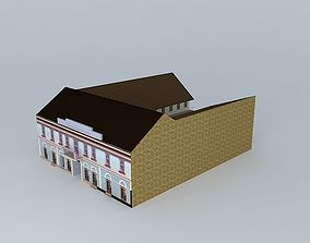 3D model Old House Mid-Europe