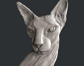 animal 3d STL models for CNC cat