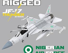 JF-17 Thunder Nigeria Realistic Rigged 3D model