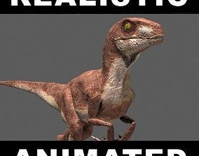 animated JP Velociraptor - 3d model trex