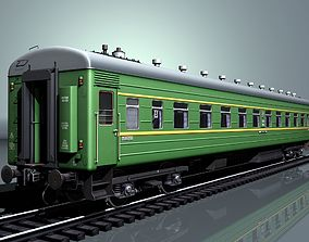 3D model Railway wagon type 66W plant-KVZ