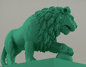 3D printable model Lion Statue High Resolution