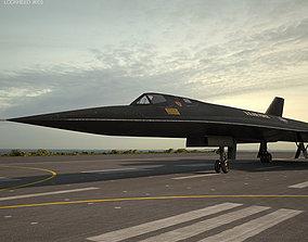 reconnaissance Lockheed SR-71 Blackbird 3D model