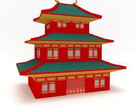Asian Building 3D model