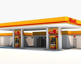 3D Gas station low