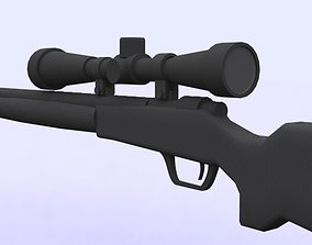 rigged M24 Sniper riffle model 3D