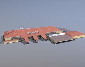 3D model Airport Terminal URKK Terminal Domestic