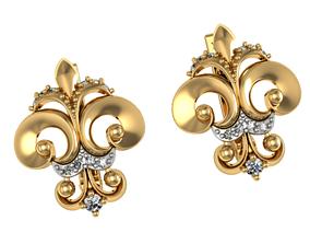 3D print model Earrings lilies