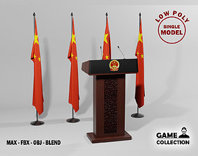 Chinese Presidential Podium 3D model