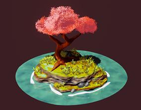 Stylised Bonsai Island 3D model