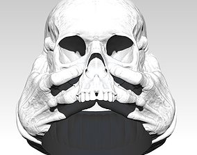 Scary Hands Human Skull Ring 3D print model
