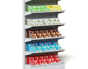 Market Shelf 3D Model - Tea and Cookies