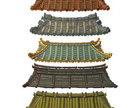 Asian Modular Roof Set 3D model