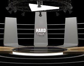 Talk show virtual set- Hard talk 3D