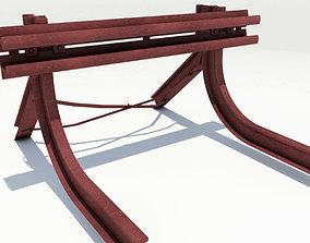 Buffer Stop railway 3D model