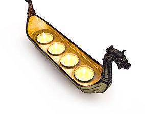 3D Drakkar candlestick