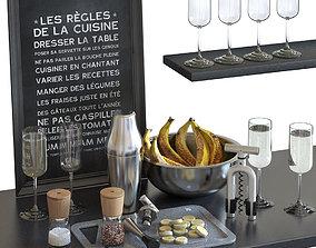 Cocktail Set WMF Parisian Shaker 3D