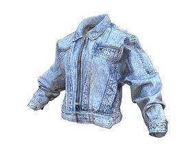 3D model Vintage Jeans Jacket