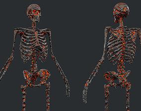 3D asset 10 Skeleton Burning Lava Pack Game