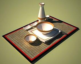 3D model Chinese Dinning Set