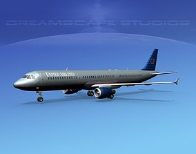 3D Airbus A321 United 1