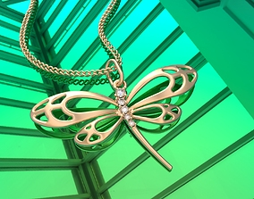 3D printable model Dragonfly pendant